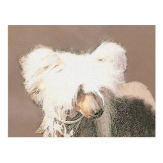 Chinese Crested Hairless Painting Original Dog Art Postcard