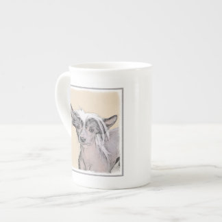 Chinese Crested Hairless Painting Original Dog Art Tea Cup