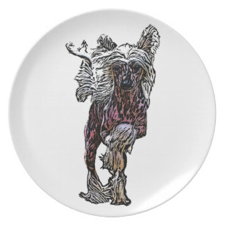 Chinese Crested On The Move Plate