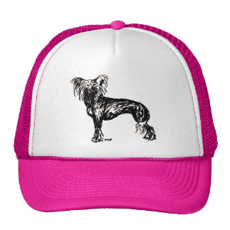 Chinese Crested Original Dog Sketch Cap