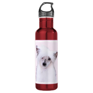 Chinese Crested (Powderpuff) 710 Ml Water Bottle