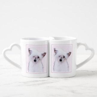 Chinese Crested (Powderpuff) Coffee Mug Set