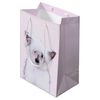 Chinese Crested (Powderpuff) Medium Gift Bag