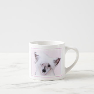 Chinese Crested Powderpuff Painting - Dog Art Espresso Cup