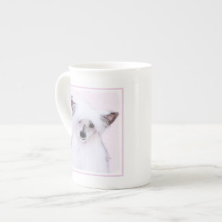 Chinese Crested Powderpuff Painting - Dog Art Tea Cup