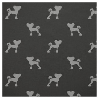 Chinese Crested Silhouettes Pattern Fabric