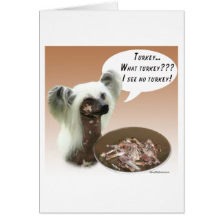 Chinese Crested Turkey Card