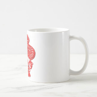 Chinese culture : dragon dance (in red) mug
