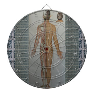 Chinese Doctor Back body acupuncture point map art Dartboards