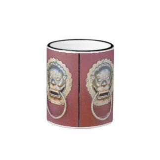 Chinese door ornaments mugs
