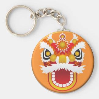 Chinese dragon #02 basic round button key ring