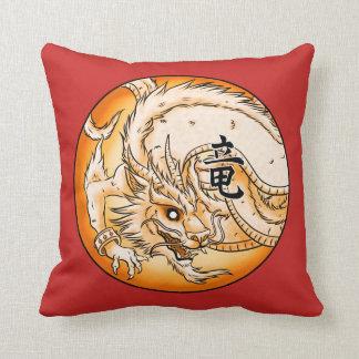 "Chinese Dragon 16"" x 16"" Polyester Throw Pillow"