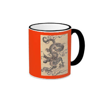 Chinese Dragon 1 Ringer Coffee Mug