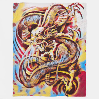 Chinese Dragon Airbrush Fleece Blanket