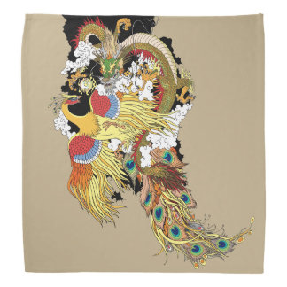 Chinese dragon and phoenix bandana