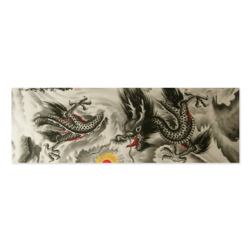 Chinese Dragon Bookmark Business Card Template