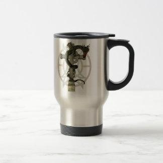 Chinese Dragon & Celtic Cross Coffee Mugs