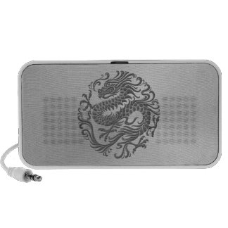Chinese Dragon Circle with Stainless Steel Effect Travel Speaker