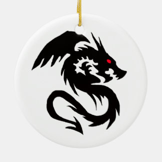 Chinese Dragon Round Ceramic Decoration