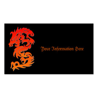 Chinese Dragon Fire Business Card