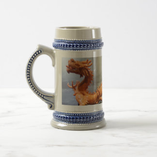 Chinese Dragon Gray /Blue 22 oz Stein