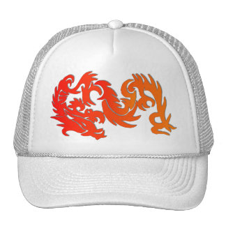 chinese dragon mesh hat