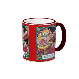 Chinese Dragon head Ringer Mug