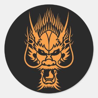 Chinese Dragon Head Sticker