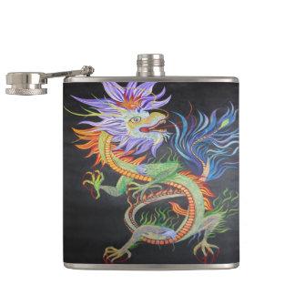 Chinese Dragon Hip Flask