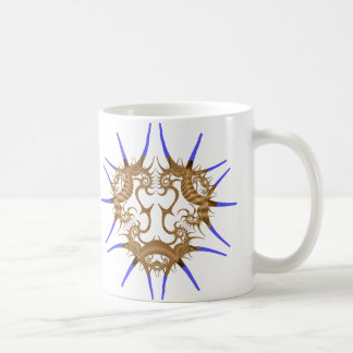 Chinese Dragon in Blue and Brown Mugs