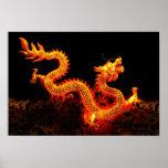 Chinese Dragon Lantern Poster