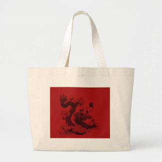 Chinese Dragon Large Tote Bag