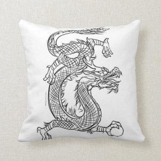 Chinese Dragon Line Drawing Sketch Eastern Fantasy Cushion