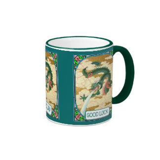 Chinese dragon ringer coffee mug
