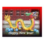 Chinese Dragon New Year Postcard
