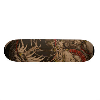 Chinese Dragon Painting Skateboard Deck