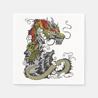 chinese dragon paper napkin