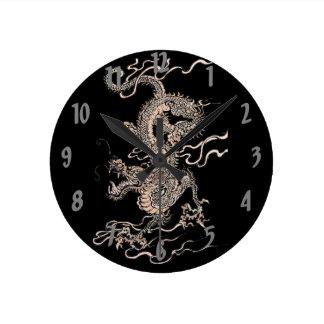 Chinese Dragon Round Clock