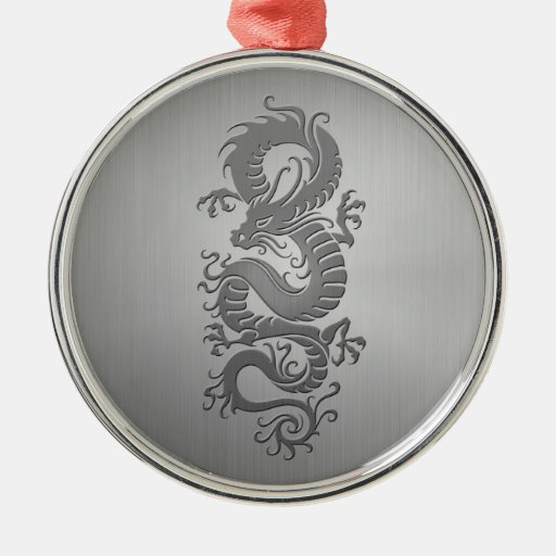 Chinese Dragon, Stainless Steel Effect Ornaments
