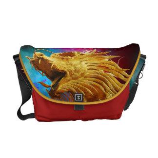 chinese dragon universe symbol messenger bag
