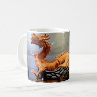 Chinese Dragon White Coffee Mug