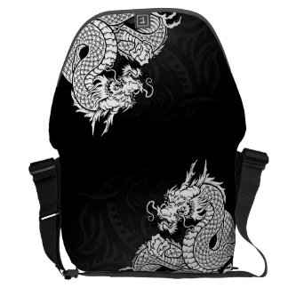 Chinese Dragon White Commuter Bag