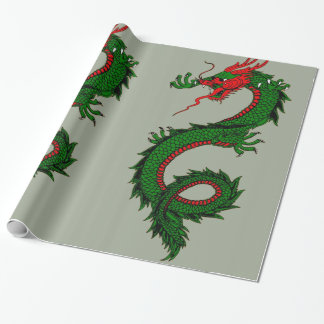 Chinese dragon wrapping paper