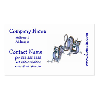 Chinese Dragons Business Cards