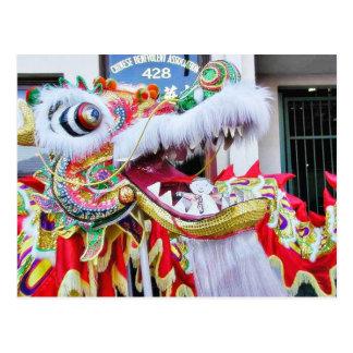 Chinese Dragons Flat Stanley Postcard