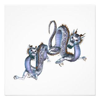Chinese Dragons Invitations