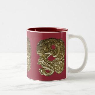 Chinese Dragons red Coffee Mugs