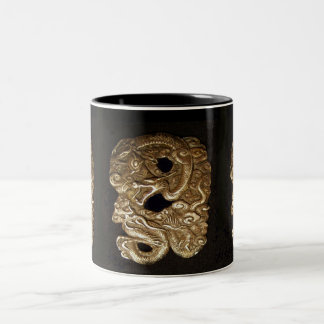 Chinese Dragons Two-Tone Coffee Mug