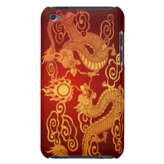Chinese Dragons Yellow Red Orange Barely There iPod Covers
