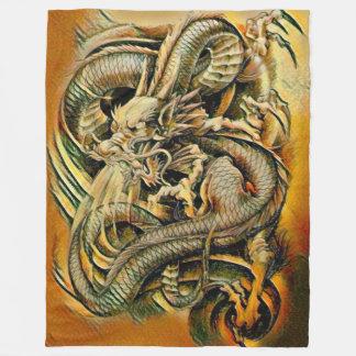 Chinese Earth Dragon Fleece Blanket
